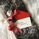 Personalised 'Believe' Jingle Bell Hanging Decoration