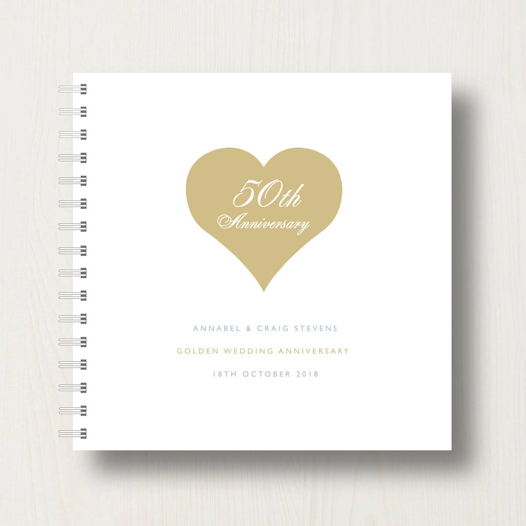 Personalised 50th Golden Anniversary Album By Designed