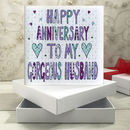 Personalised Husband Anniversary Book Card