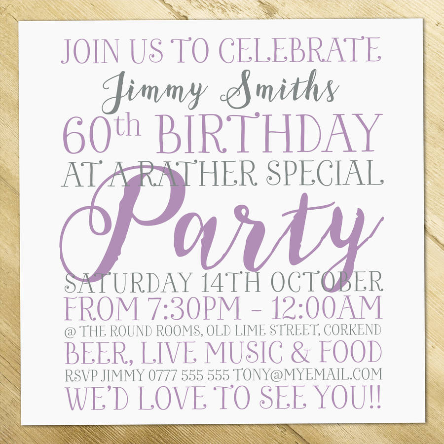 personalised birthday enagement wedding invitations by a is for ...