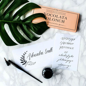 Personalised Name Calligraphy Kit - gifts for friends