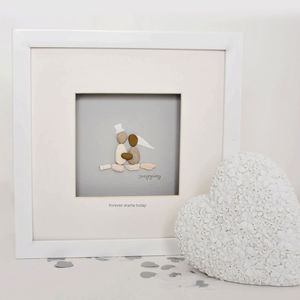 Personalised Bride And Groom Pebble Artwork