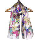 Large 'Butterflies' Pure Silk Scarf