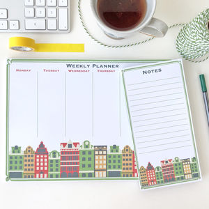 Scandi Weekly Desk Planner And Notes Set