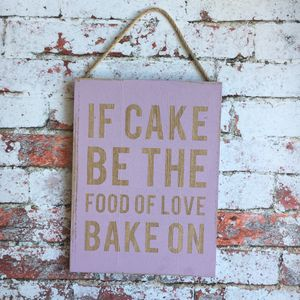 Baking Sign - home accessories