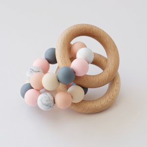 Colour Mix Teething Ring Toy - whatsnew
