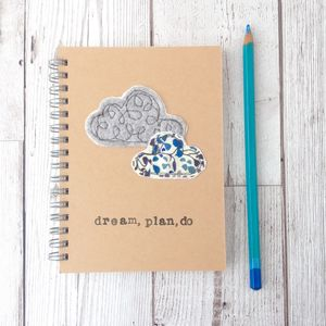 Personalised, Sewn Dream, Plan, Do Notebook