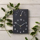 Eco Recycled Moon Phase Outdoor Clock And Thermometer By