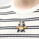 Bumble Bee Sterling Silver Necklace