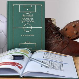 Personalised Football Quiz Book - gifts for teenagers