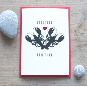 Lobsters For Life Anniversary Card - shop by category