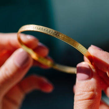 18ct Gold Plated Moroccan Design Bangle