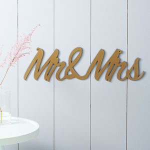 'Mr And Mrs' Metal Sign