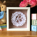 New Baby Girl Floral Papercut Initial Gift