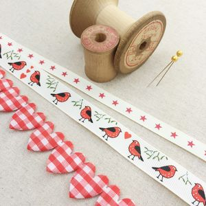 Christmas Robin Ribbon Collection