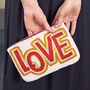 Hand Beaded 'Love' Purse