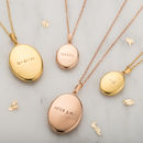 Personalised Gold Plated Locket