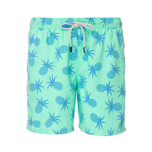 Men's Jade Green Pineapples Swimming Shorts