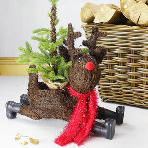 Sliding Reindeer Planter - christmas home accessories