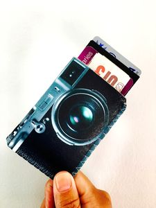 Retro Camera Card Holder
