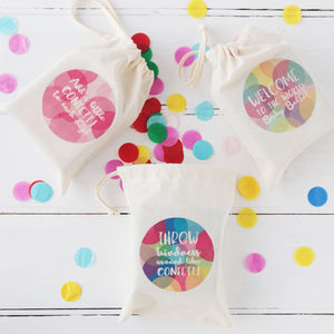Colourful Party Confetti In A Bag - confetti, petals & sparklers