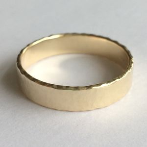 Wide Wedding Band Solid 9ct Yellow Recycled Gold - wedding rings