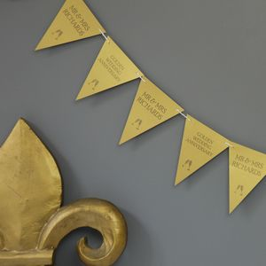 Personalised Golden Wedding Anniversary Bunting - decoration