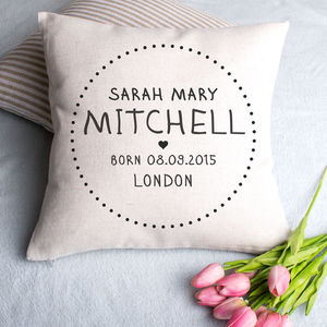 Christening New Baby Cushion Cover - living room