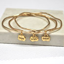 gold hope wish dream mantra stacking bangles