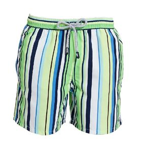Boy's Green Stripe Swimming Shorts - clothing