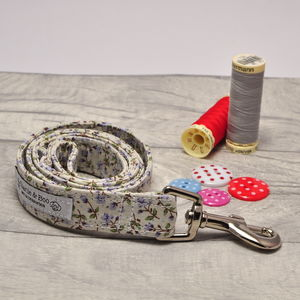 Dog Lead/Leash For Girl Or Boy Dogs In Liliac Floral - dogs