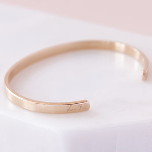 Personalised Open Bangle - rose gold jewellery