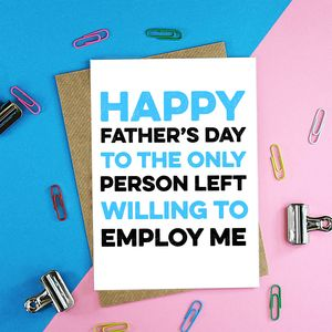 Only Person Left Father's Day Card - shop by category