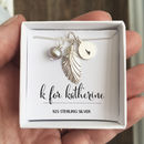 Personalised Sterling Silver Feather Charm Necklace
