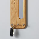 Personalised Oak Mirror And Coat Rack