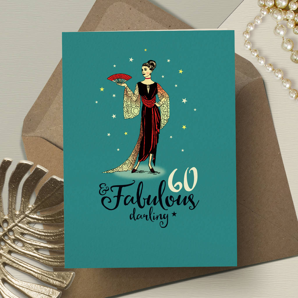 60th Birthday Card For Her Fabulous 60