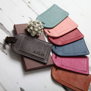 Personalised Leather Luggage Tag - 3rd anniversary: leather