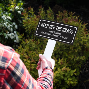 Personalised 'Keep Off The Grass' Garden Sign