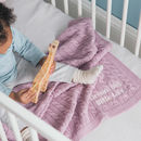 Luxury Baby Girl Cable Blanket