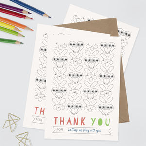 Colour In Thank You Notes Set Of 10 - what's new