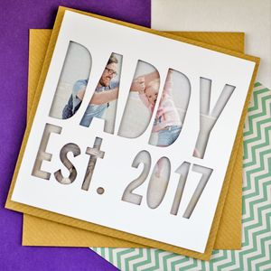 Personalised Photo Fathers Day Card 'Daddy/Father Est.'