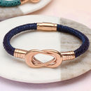 Personalised Rose Gold Initialed Infinity Bracelet