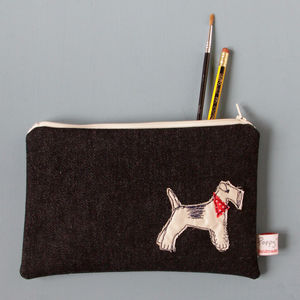 Fox Terrier Embroidered Purse - purses