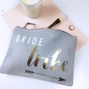 'Bride Tribe' Make Up Bag - wedding fashion