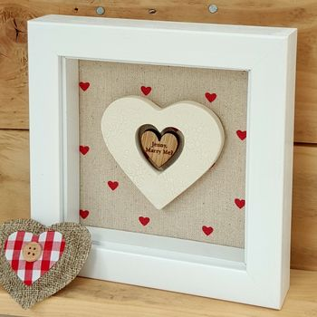 Handmade Pottery Love Heart Token Frame