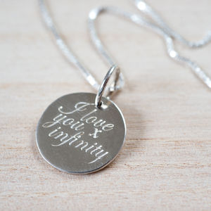 'I Love You X Infinity' Necklace - necklaces & pendants