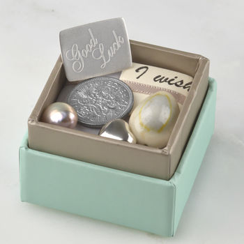 Personalised Good Luck Box Of Charms