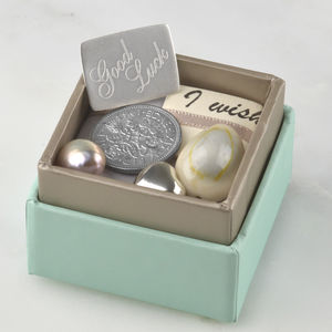 Personalised Good Luck Box Of Charms - jewellery sale
