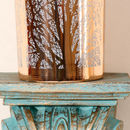 Contemporary Rose Copper Tree Of Life Candle Holder