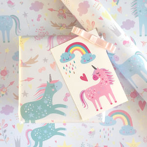 Luxury Unicorn Wrapping Paper